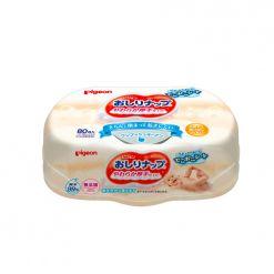 贝亲婴儿清爽润肤湿纸巾 湿巾纸80枚 抽取式盒装