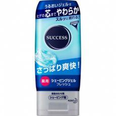 花王SUCCESS男士剃须啫喱手动刮胡透明凝胶薄荷清爽180g