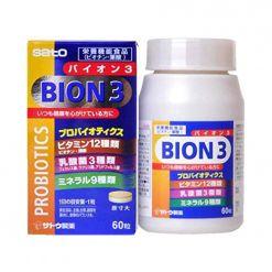 海外直邮sato佐藤BION3乳酸菌健康营养片60粒